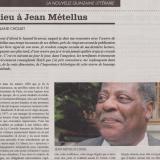 Jean Métellus La quinzaine littéraire