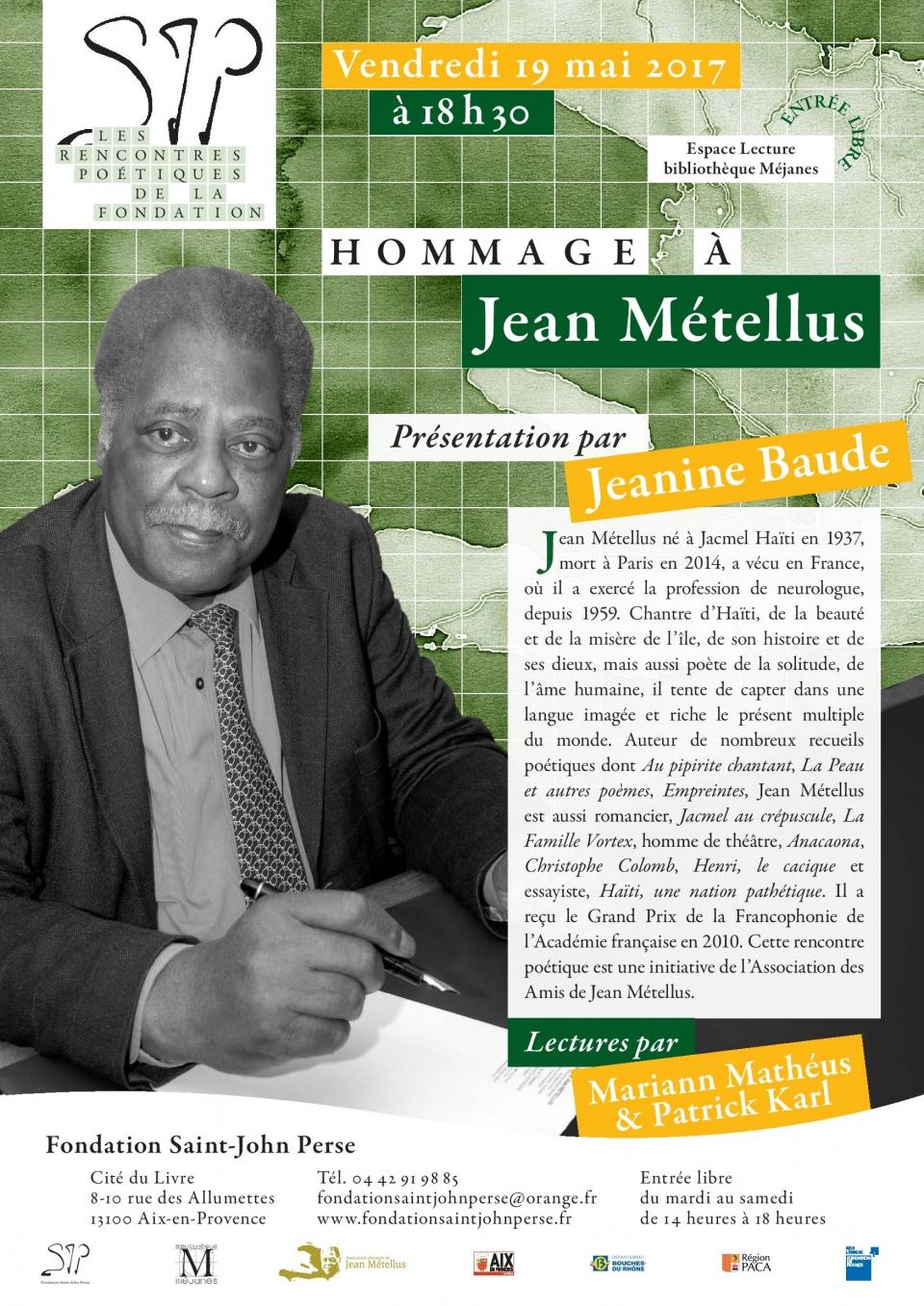 Hommage à Jean Métellus à la Fondation Saint-John Perse