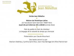 Hommage 2016 à Jean Métellus